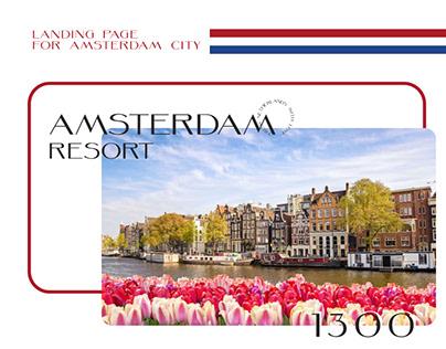 Amsterdam landing page