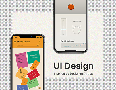 UI Design inspired by Designers/Artists