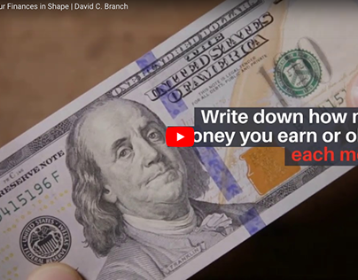 How to Get Your Finances in Shape   David C. Branch