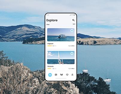iOS app for yacht rental
