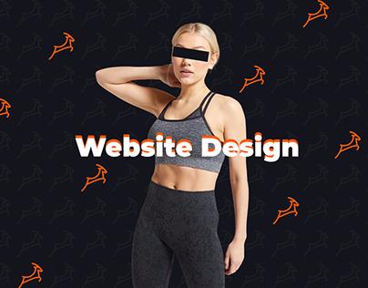 Gym Store Website Design