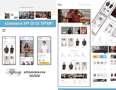 UI UX App eCommerce Tiffany Beauty