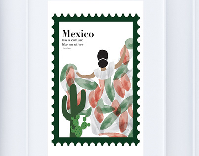 Postage Stamp Inspired Travel Posters