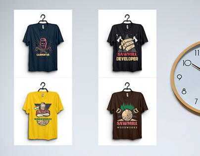 8 Carpenter/Sawmill T-Shirt Design Bundle Only $10