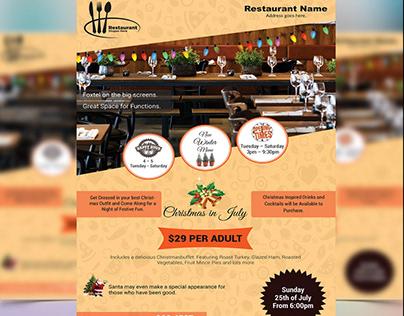 Eye-Catching Restaurant Flyer.