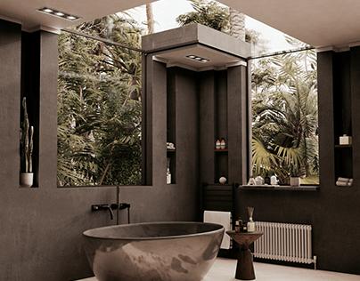 Glassy Bathroom by DT Design Studio