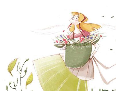 Spring Lady ( Spring card )