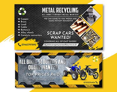 Metal Recycling Banner, Poster, leaflet design