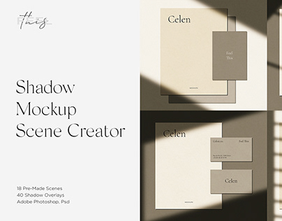 Celen Shadow Mockup Scene Creator / Bundle / Kit PSD