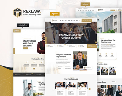 Law Attorney PSD Template