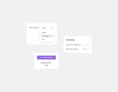 Day 1201・Content Settings UI Design