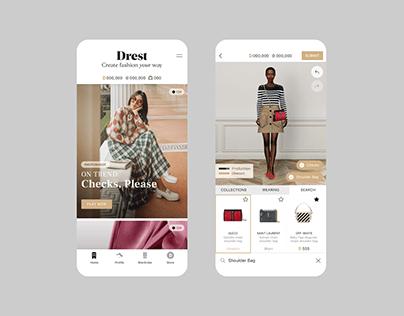 Drest | Fashion Game UI/UX