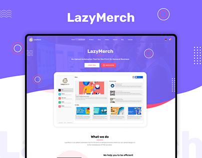 LazyMerch Website