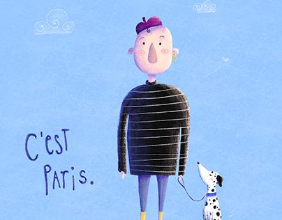 Childrenbook Illustration | Monsieur Bleu