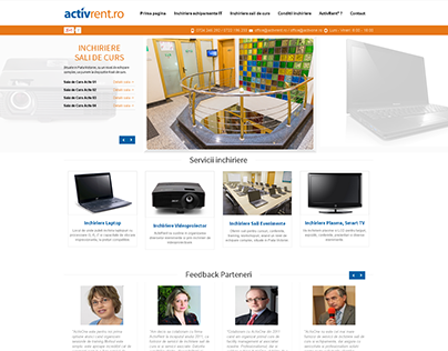 Activrent.ro Website design
