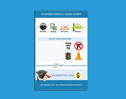 Trafic Ticket Flayer for Lawyer in USA