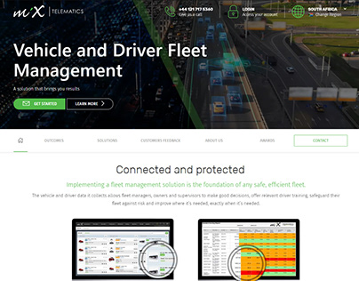 MiX Telematics Fleet Management Page