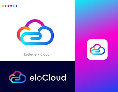 modern cloud logo for tech company