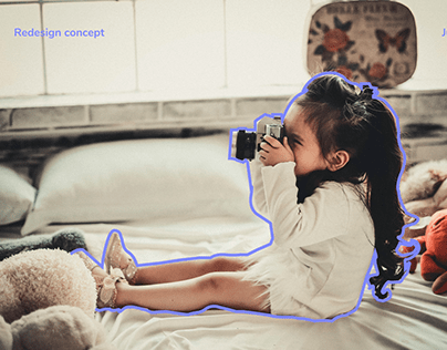 Сhildren's photography school — Redesign concept
