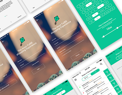 Shopping E Commerce App - Shopping iOS app UX