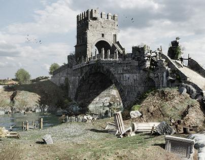 The Salarian Bridge at the time of Piranesi