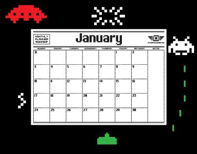 8-Bit 2016 Monthly Planner