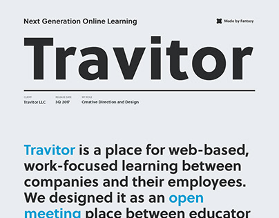 Travitor Online Learning Platform