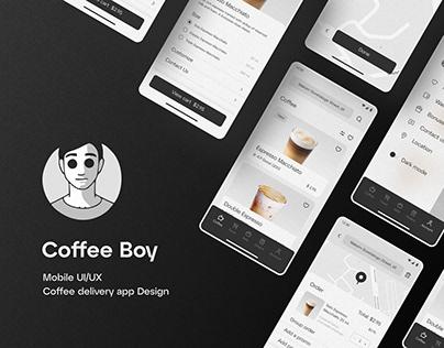 Coffee Boy — Mobile Concept UX/UI