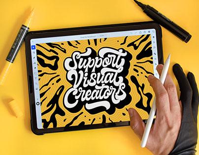Lettering Process | Adobe Illustrator On The iPad