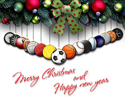 Christmas sports illustrations and other
