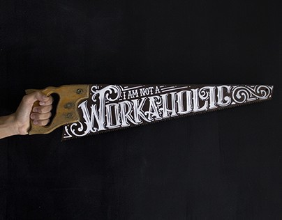 Hand lettered saw