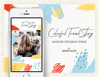 Colorful Travel Animated Instagram Stories