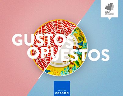 Vajillas Corona - Gustos Opuestos