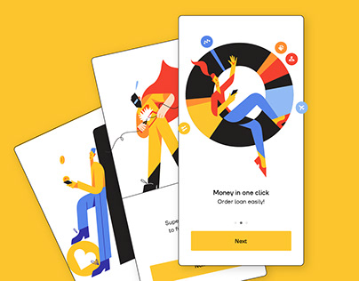 Yelo - Animated illustrations for Mobile Banking app