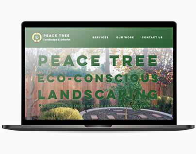 Peace Tree Landscaping & Arborist website
