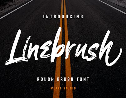 Linebrush – Rough Brush Font