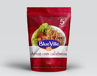 Package Redesign: 5-Minute Rice, Blue Ville