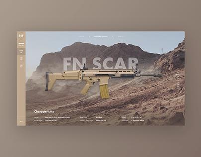 Weapons Website Concept