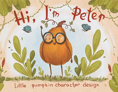 Little pumpkin character design