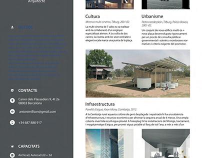 cv arquitecte català