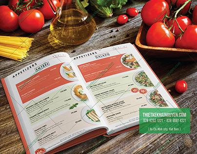 Salmon Restaurant Menu Design - DA NANG CITY