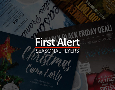 First Alert Seasonal Promo Flyers