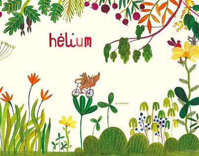 Hélium stand illustration
