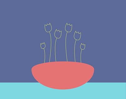 Sobre flores e plantas.