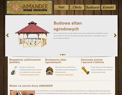 Strona WWW dla stolarni