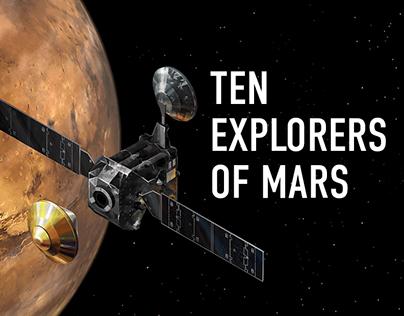 Ten Explorers of Mars