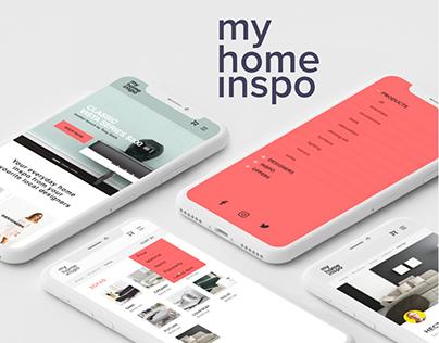 my home inspo app design