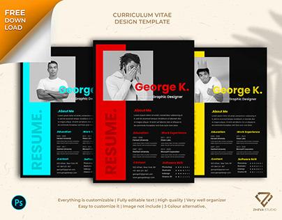 Free Curriculum Vitae Design Template