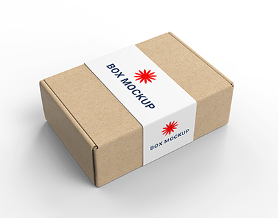 Free Blank Tuck In Flap Packaging Paper Box Mockup
