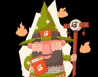 Green Wizard Character - NFT Art